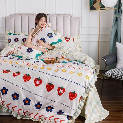 2020新款公主风花边印花四件套 1.2m床单款三件套 2可口甜心-花边款