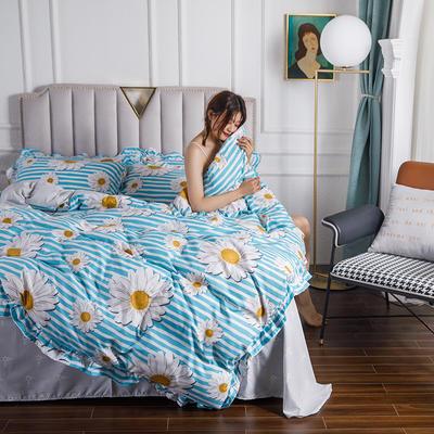 2020新款公主風花邊印花四件套 1.2m床單款三件套 12錦繡向陽-花邊款