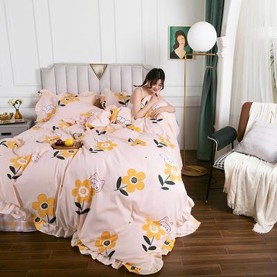2020新款公主风花边印花四件套 1.2m床单款三件套 14童心-花边款