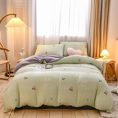 2020新品-针织棉四件套 1.5m床单款四件套 草莓之恋