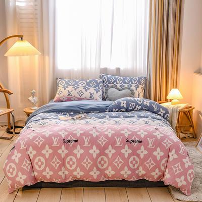 2020新品-针织棉四件套 1.5m床单款四件套 流行前线