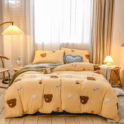 2020新品-针织棉四件套 1.5m床单款四件套 萌萌哒