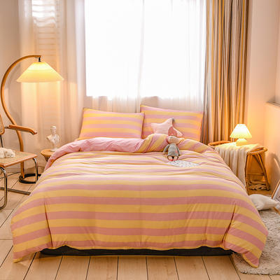 2020新品-针织棉四件套 1.5m床单款四件套 似水柔情玉