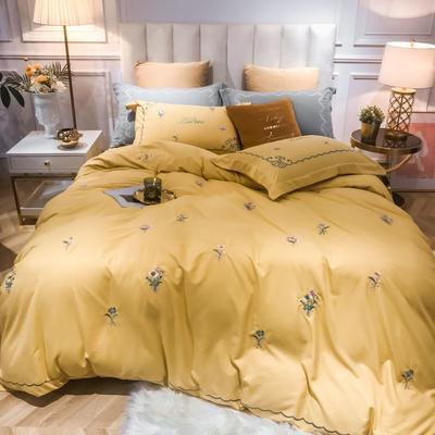 2019新款60水洗磨毛四件套 1.5m床单款 温暖-嫩黄