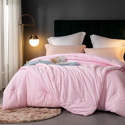 2020新款全棉60S小提花大豆子母被被子被芯 200X230cm 11斤 粉色