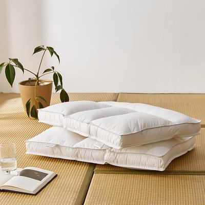 2020新款定型枕(总) 全棉护颈分区枕-低枕