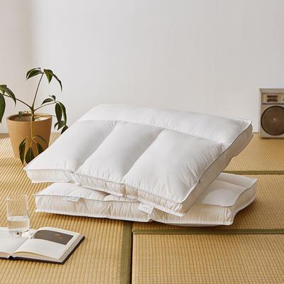 2020新款定型枕(总) 全棉护颈分区枕-高枕