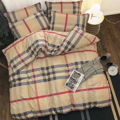 新款磨毛铂金棉四件套 0.9m-1.2m床单款三件套 宝莉格