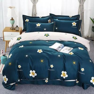 新款磨毛铂金棉四件套 0.9m-1.2m床单款三件套 魅力夏花