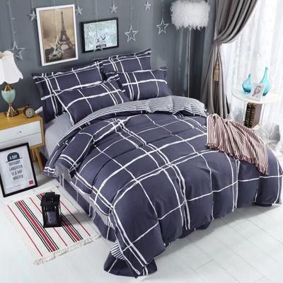 新款磨毛铂金棉四件套 0.9m-1.2m床单款三件套 梦想