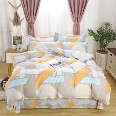 新款磨毛铂金棉四件套 0.9m-1.2m床单款三件套 欧若拉