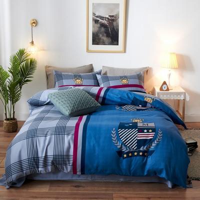 新款生态磨毛四件套 1.8m床单款四件套 都市爱情