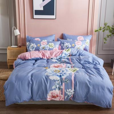 新款生态磨毛四件套 1.8m床单款四件套 花之盛宴