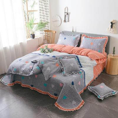 2019新款夹棉床盖式六件套 方垫/对 风雅格