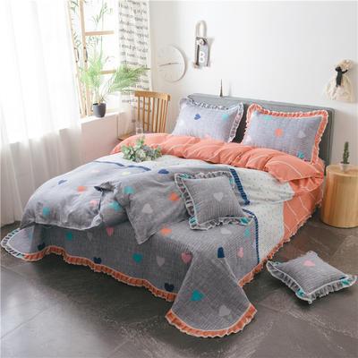 2019新款夹棉床盖式六件套 1.2m床盖式三件套 满心欢喜