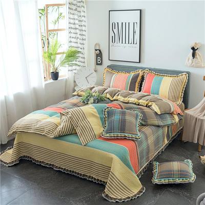 2019新款夹棉床盖式六件套 1.2m床盖式三件套 明日之子