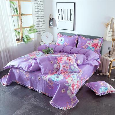2019新款夹棉床盖式六件套 1.2m床盖式三件套 美丽香