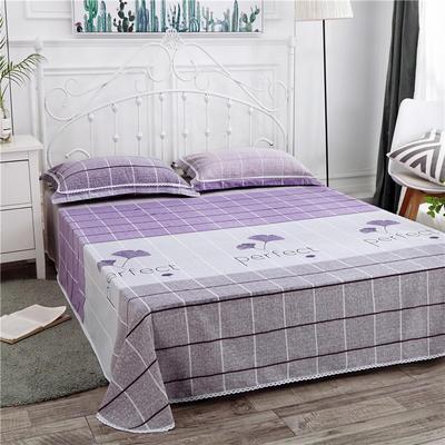 2019新款全棉长绒棉床单 160*230cm 枫叶紫