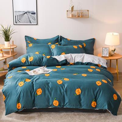 2019新款标准130克植物羊绒四件套 1.2m床单款三件套 柠檬派