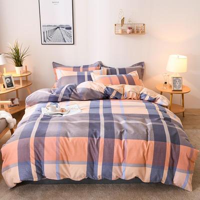 2019新款标准130克植物羊绒四件套 1.2m床单款三件套 唯美记忆