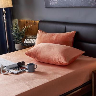 2019新款160g水晶绒枕套 48cmX74cm 019 橙色