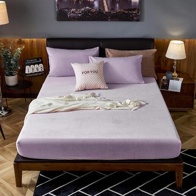 2019新款200g水晶绒床笠床罩 150cmx200cm 012 水晶紫