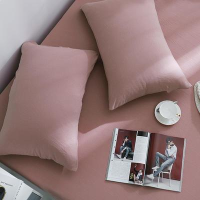 2019新款针织天竺棉枕套 48cmX74cm 019橡皮红