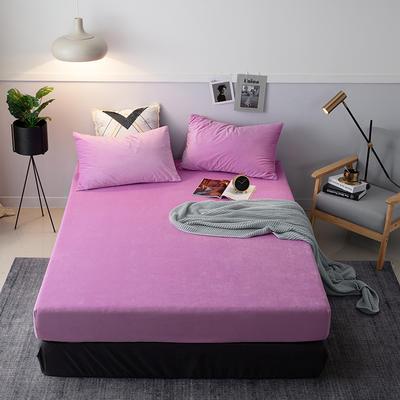 2019新款宝宝绒床笠床罩 150x200+28cm 042 紫色