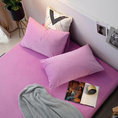 2019新款宝宝绒枕套 48cmX74cm 042 紫色