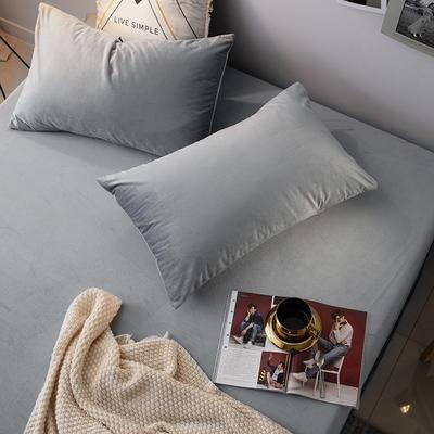 2019新款宝宝绒枕套 48cmX74cm 047 银灰