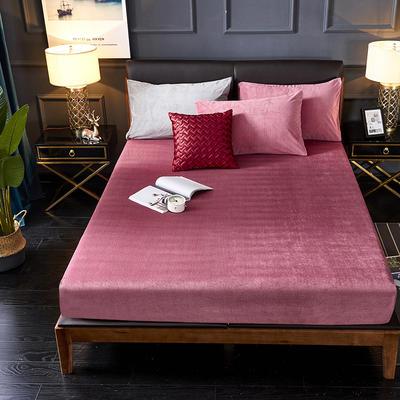 2019新款绒类印花床笠床罩 150*200+28cm 031条纹红