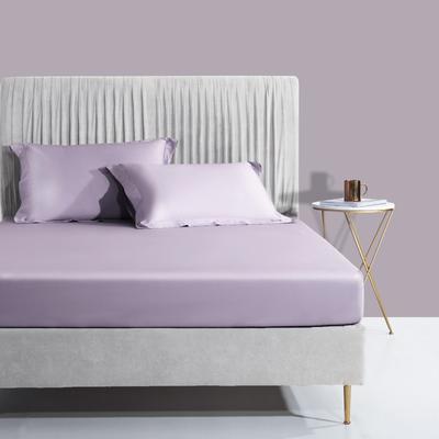 2020新款60支长绒棉贡缎纯色床笠 150x200cm+28cm 柔云紫