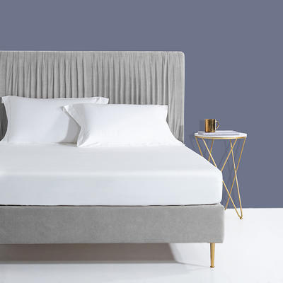 2020新款60支长绒棉贡缎纯色床笠 120x200cm+28cm 珍珠白