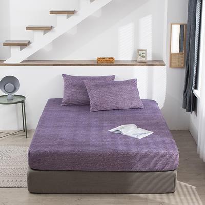 2020新款加厚保暖牛奶绒床笠 180cmx200cm 雪花紫