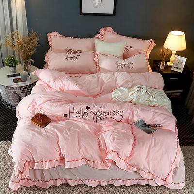 2019新款-水洗棉水晶绒系列四件套 床单款1.2m(4英尺)床 白露