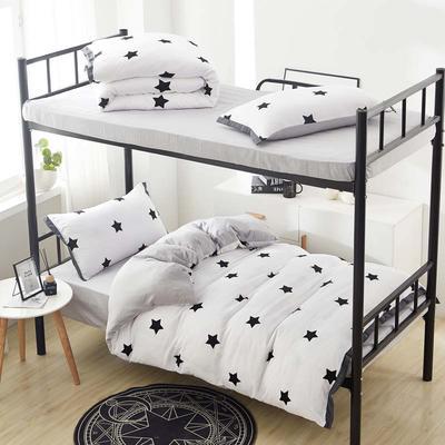 2019新款水洗棉印花系列-学生上下铺 1.0m(3.3英尺)床单款三件套 密密星星