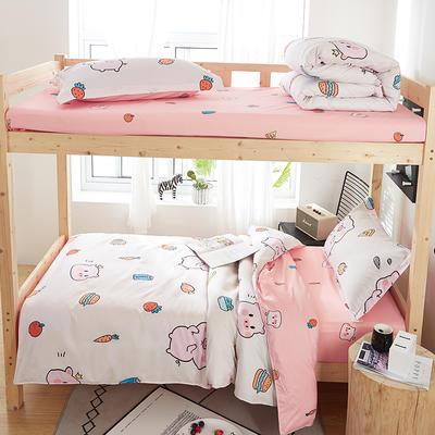 2019新款芦荟棉学生三件套 1.0m(3.3英尺)床 可爱小猪