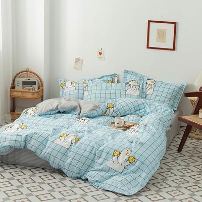 2020新款成人家居印花套件 1.0m(3.3英尺)床单款三件套 happy鸭