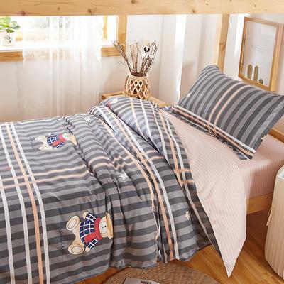 2020新款学生宿舍清新简约套件 1.0m(3.3英尺)床单款三件套 可爱小熊