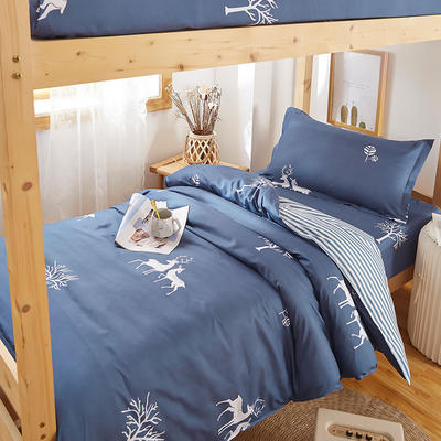 2020新款学生宿舍清新简约套件 1.0m(3.3英尺)床单款三件套 小花鹿