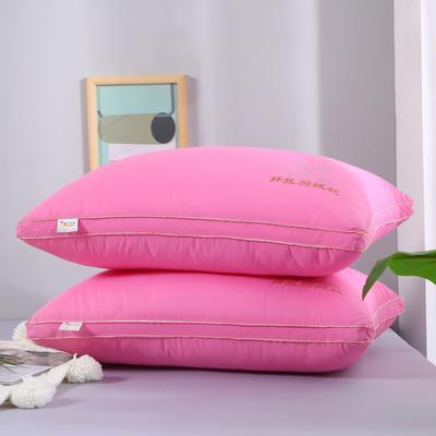 2019新款-纤丝羽丝枕头枕芯 粉色立体   48*74