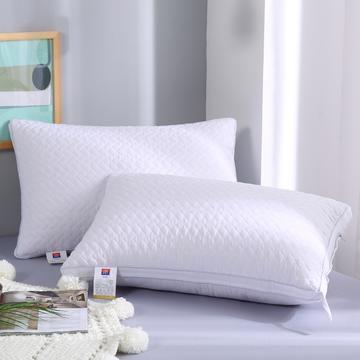 2019新款-立体单边绗绣枕头枕芯