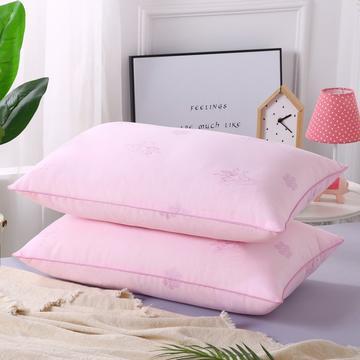 2019新款-特惠压缩枕头枕芯-粉色双鹅