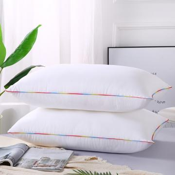 2019新款-特惠压缩枕头枕芯-磨毛彩边