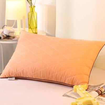 2019新款可水洗羽丝枕头枕芯 42*72(低枕)粉色