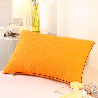 2019新款可水洗羽丝枕头枕芯 42*72(低枕)桔色