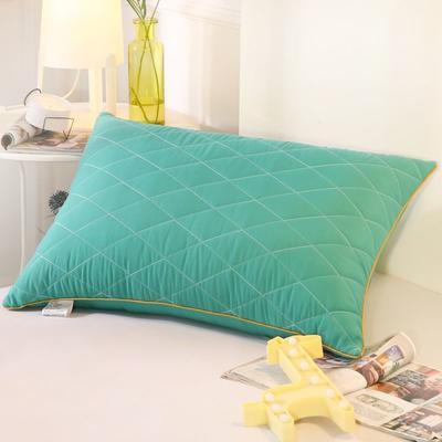 2019新款可水洗羽丝枕头枕芯 42*72(低枕)绿色