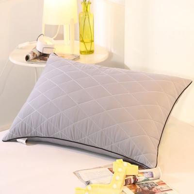 2019新款可水洗羽丝枕头枕芯 42*72(高枕)灰色