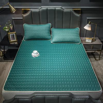 2021新款乳胶凉席三件套-空调席系列 1.8*2.0m三件套 墨绿