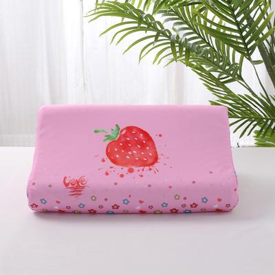 2019新款-儿童乳胶枕(数码印花)44*27*6 其他 草莓44*27*6